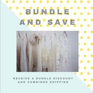 Bundle for a discount and one shipping fee!!